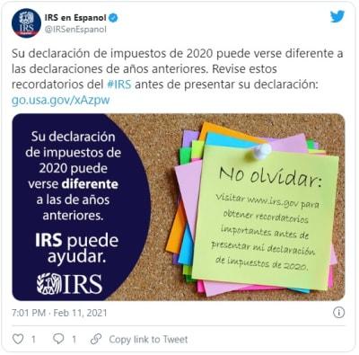 IRS declarar impuestos