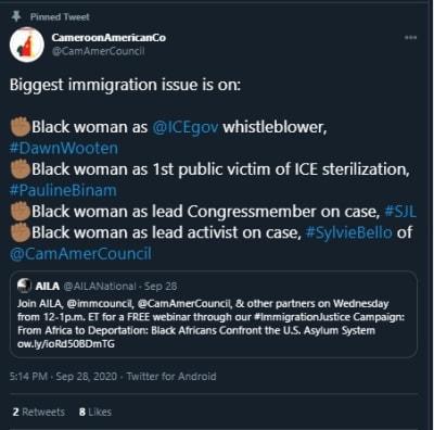 ICE Detener Mujer Esterilizada 4