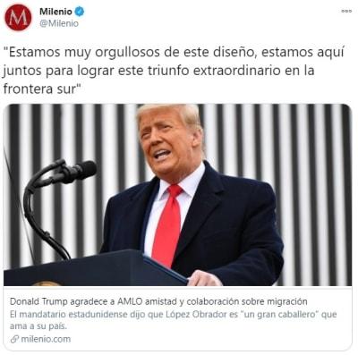Trump agradece AMLO migración 1