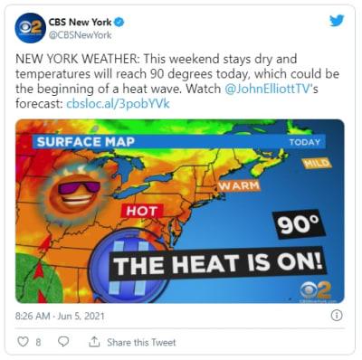 Alerta clima inestable: ola de calor llega a Nueva York este fin de semana