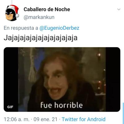 Eugenio Derbez se burla de que le hayan cancelado la cuenta de Twitter a Paty Navidad