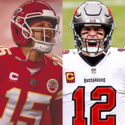 Brady Mahomes Super Bowl 3 Archivado como Brady Mahomes Super Bowl LV, Buccaneers de Tampa Bay vs Chiefs de Kansas City.