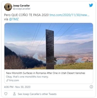 Aparece otro misterioso monolito como el de Utah, esta vez fue en Rumanía