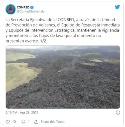 Pacaya volcano lava threatens to bury neighboring town
