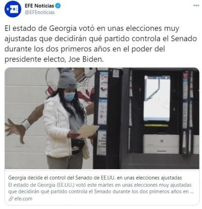 Georgia Senado elecciones 1