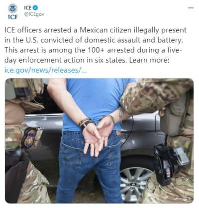 ICE detiene indocumentados Texas