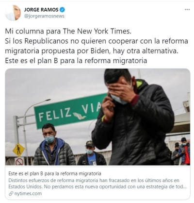 Jorge Ramos reforma migratoria plan B