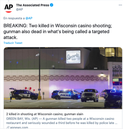 Shooting at Casino Wisconsin