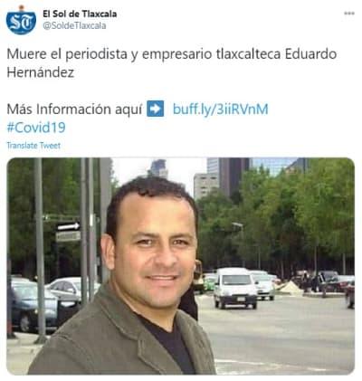 Maribel Guardia Luto, periodista Eduardo Hernández