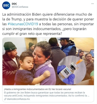 Biden Inmigrantes acceso vacuna coronavirus 2