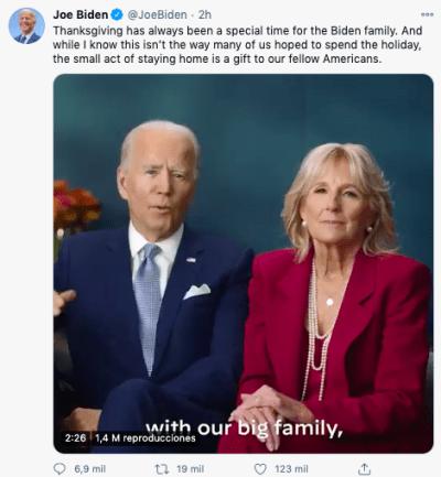 Biden 80 millones de votos, rompe récord histórico en EEUU