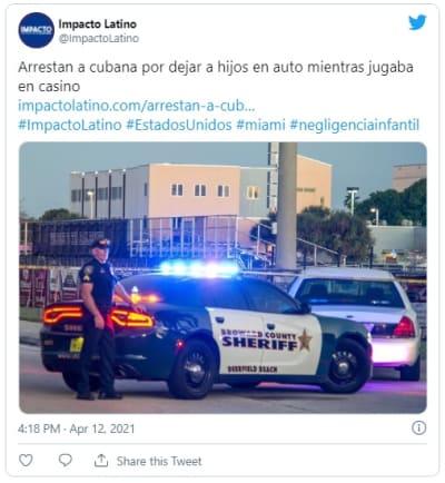 Arrestan a latina por dejar a sus hijos en el auto mientras jugaba en casino