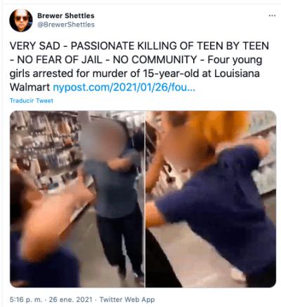 asesinato en Walmart