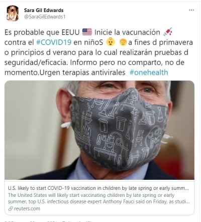 Estados Unidos vacuna coronavirus niños