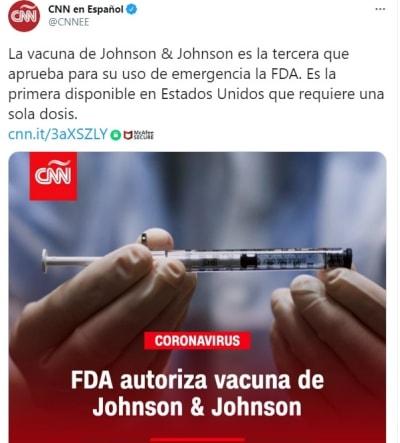 Aprobación vacuna coronavirus Johnson & Johnson 2