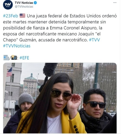 Vieira Psíquica Emma Coronel detenida