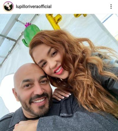 Lupillo Rivera presume a su novia pero le notan algo diferente en su rostro cejas