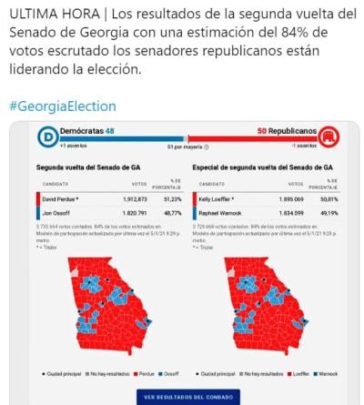 Georgia Senado elecciones 2