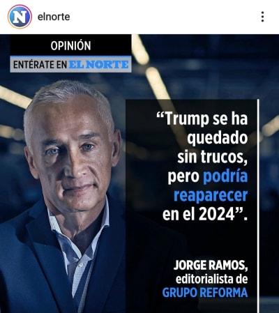 Jorge Ramos revela cuándo regresará Donald Trump