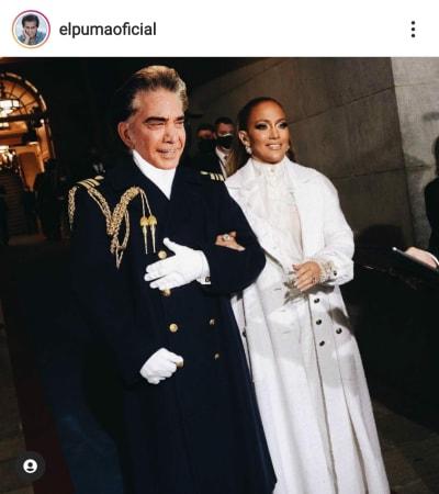 JLo lleva acompañante secreto a la toma de posesión de Joe Biden José Luis Rodríguez El Puma