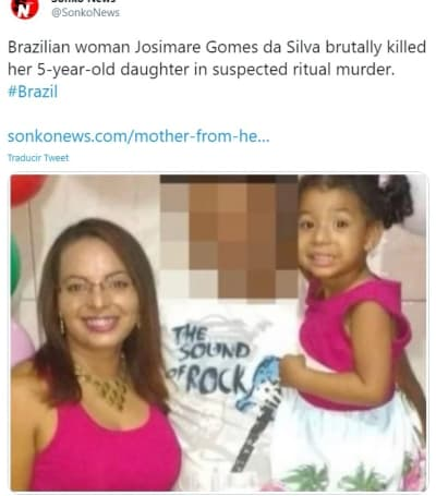 Madre brasileña asesina hija 2