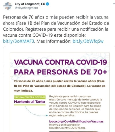 Colorado Indocumentados vacuna coronavirus 2