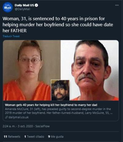 Mujer Virginia Asesina Novio