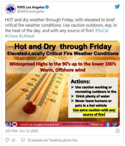 Reportan nueva ola de calor en California que podría generar más incendios