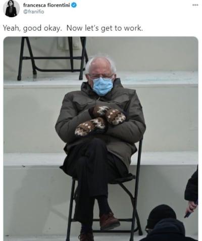 Bernie Sanders Inauguración Biden Outfit
