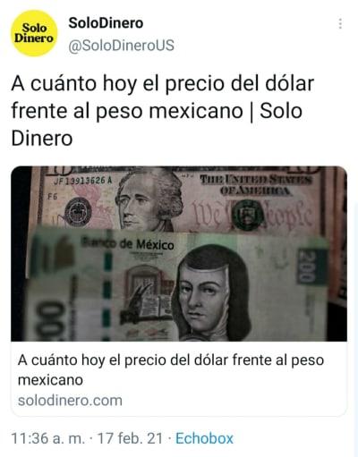 Peso mexicano 17 febrero: Así se vende el dólar hoy