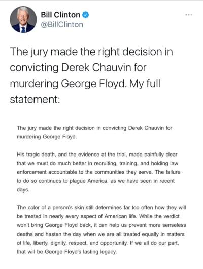 Autoridades reaccionan veredicto Chauvin