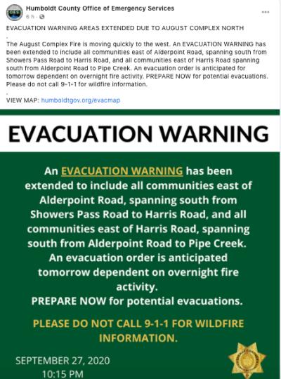 Evacuaciones Santa Rosa California a medida de que se activan nuevos incendios