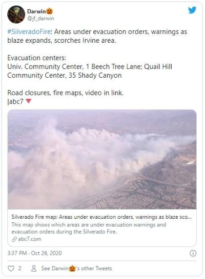 Los Ángeles: Incendio avanza rápido y obliga a evacuar 60,000 personas