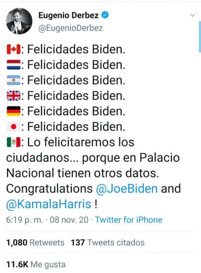 Eugenio Derbez responde de inesperada forma a Donald Trump