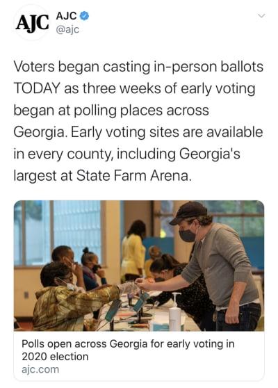 Largas filas elecciones tempranas en Georgia