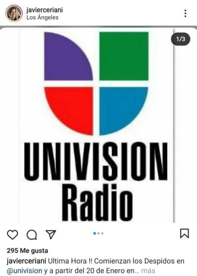 Aseguran que ya comenzaron los primeros despidos en Univisión