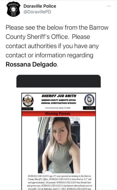 Desaparición de Rossana Delgado