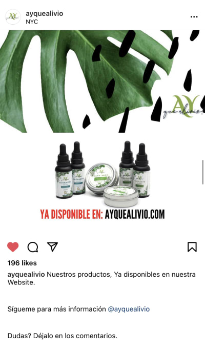 Products Ay Que Alivio!