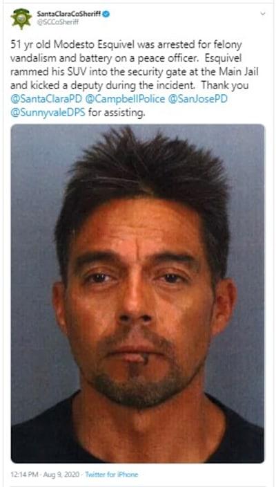 Atravesó puerta de cárcel con su camioneta en California