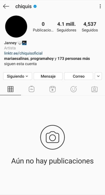 Tras anunciar su separación de Lorenzo Méndez, Chiquis Rivera borra todas sus publicaciones de Instagram