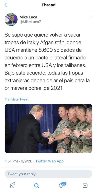 Estados Unidos reducirá contingente