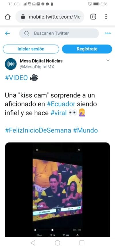 Infieles kiss cam