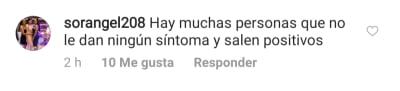 Clarissa Molina anuncia que da positivo al coronavirus