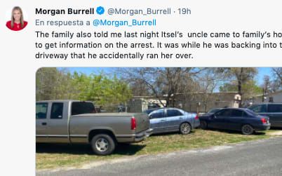 Niña hispana de Texas muere tras ser atropellada accidentalmente por familiar