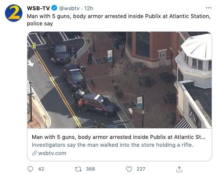 hombre armado arrestado
