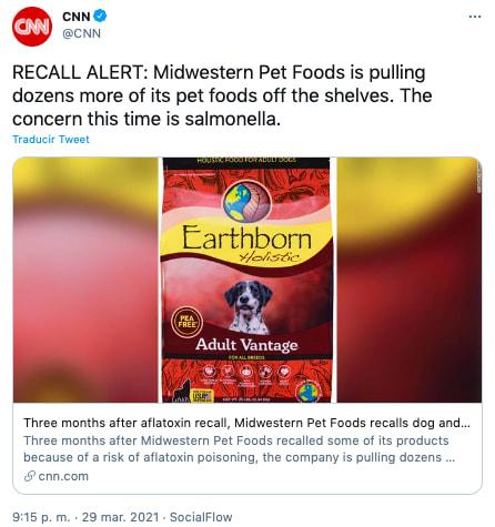 recall comida perros