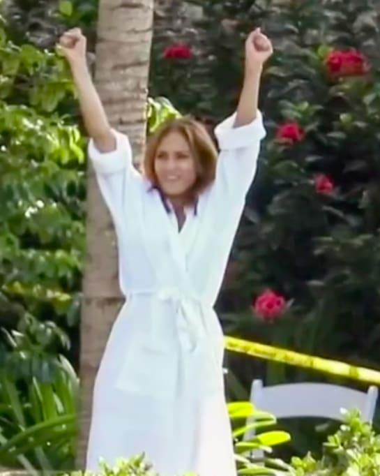 Jennifer López aparece muy contenta (IG)