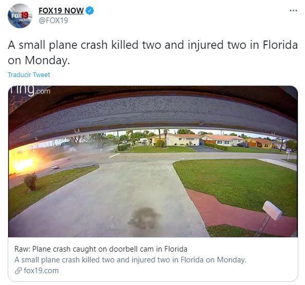 avioneta se estrelló Florida