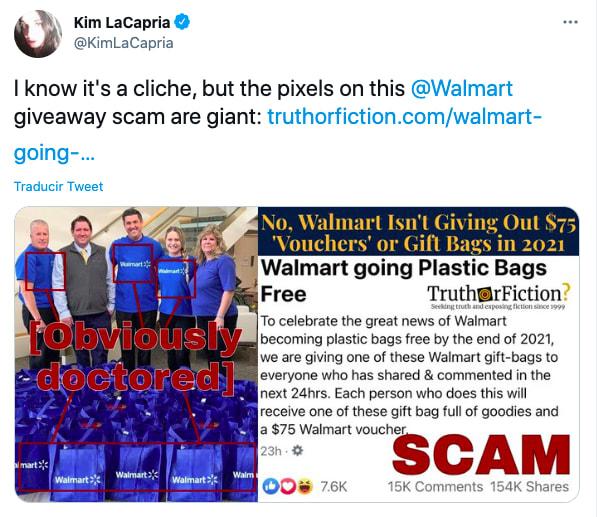 Walmart alerta sobre estafa