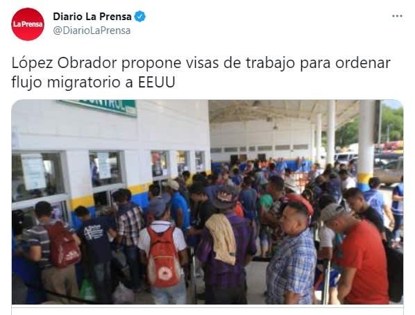 Andrés Manuel López Obrador AMLO visas de trabajo flujo de migrantes Joe Biden 2